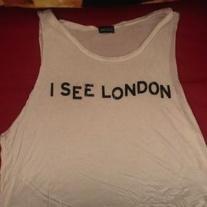 """Love culture """" I see London graphic tank"""""""